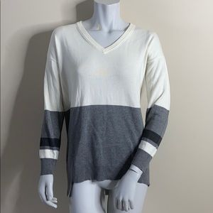 Vince Camuto Asymmetrical Color Block Sweater S
